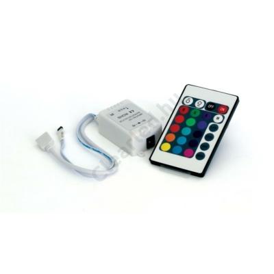 RGB vezérlő szett 24 gombos 72/144W, 6A