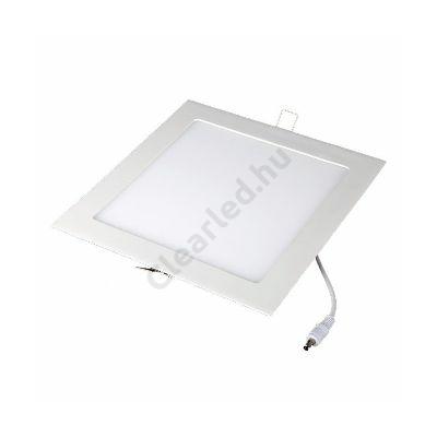 LED panel 12W négyzetes beépíthető 2800K fehér peremes