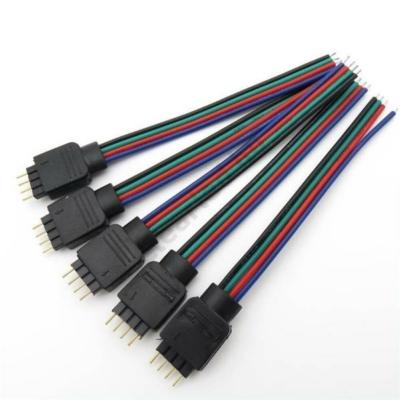 LED szalag kiegészítő RGB, 4 tűs betáp csatlakozó 8101