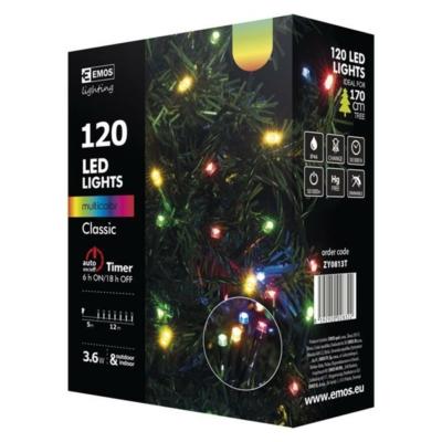 EMOS ZY0813T kültéri karácsonyi fényfüzér,120 LED,12m, multicolor