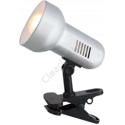 GLOBO 5497 BASIC csiptetős lámpa, fém, szürke, E27