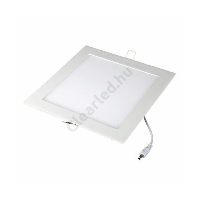 LED panel 18W négyzetes beépíthető 3000K fehér peremes