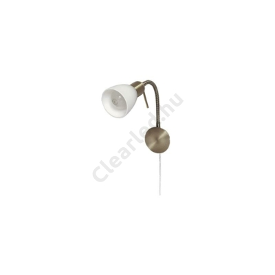 Rábalux 6320 Soma gégecs.falikar E14 1x40W bronz opál