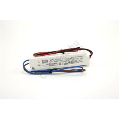 Mean Well LPH-18-12 LED tápegység 18W műanyagházas