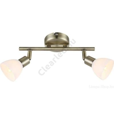 GLOBO 56045-2 mennyezeti lámpa, 2xG9, antik réz