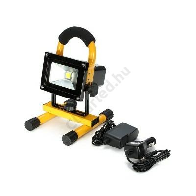 LED reflektor 230V 10W akkumulátoros hordozható COB LED