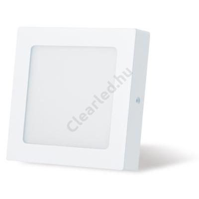 LED panel 12W négyzetes, falonkívüli 2800K fehér peremes