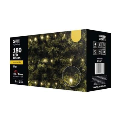 EMOS ZY1447T kültéri karácsonyi fényfüzér háló 144LED 2m x 2m, meleg fehér
