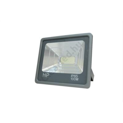 LED reflektor 230V 100W hideg fehér SMD LED szürke ház