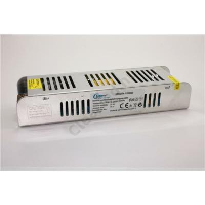 LED tápegység 12V DC IP20 200W szerelhető fémházas slim