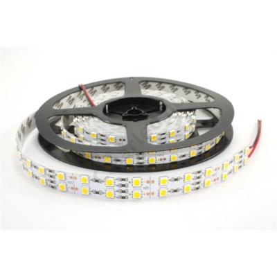 LED szalag beltéri IP20 SMD5050 120LED 28,8W/m meleg fehér dupla széles