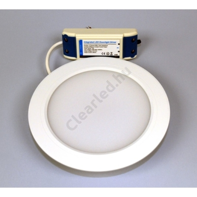 LED panel 12W kerek, beépíthető RGB+CCT fehér peremes