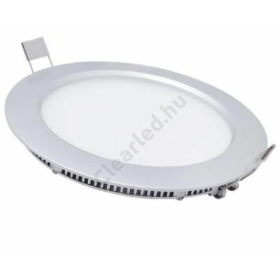 LED panel 24W kerek beépíthető 3000K fehér peremes