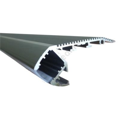 ALU profil lépcsőhöz, 10mm-es szalaghoz, 2m-es, matt előlappal
