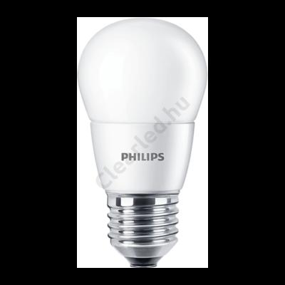 PHILIPS LED kisgömb matt E27 7W 60W 2700K 2év