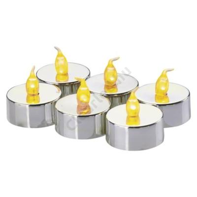 EMOS ZY2150 tea mécses, ezüst, 6db/csom.