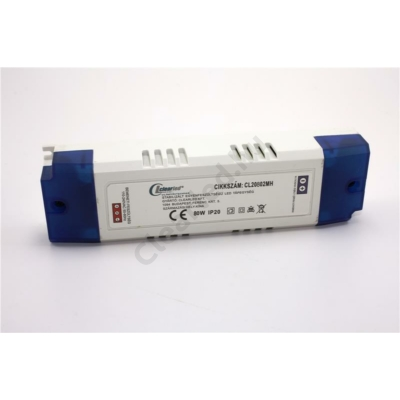 LED tápegység 12V DC IP20 80W szerelhető műanyagházas