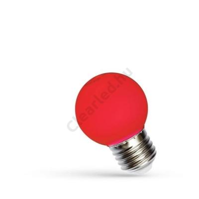 Spectrum LED WOJ11795 kisgömb E27 1W piros