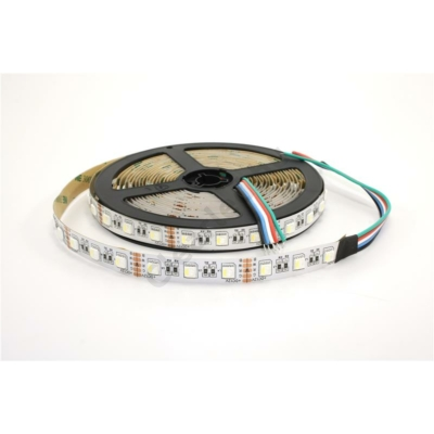 LED szalag RGB+ hideg fehér beltéri IP20 SMD5050 60LED 14W/m 12mm
