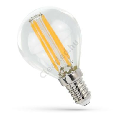 Spectrum LED WOJ14071 filament üveg kisgömb E14 4W WW