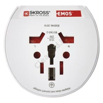 EMOS P0055N utazó adapter, dugalj átalakító