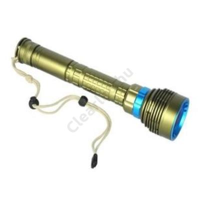 Búvárlámpa 8400lm IPX8 max. 100m, arany