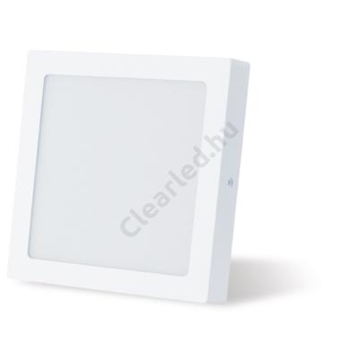 LED panel 18W négyzetes, falonkívüli 2800K fehér peremes