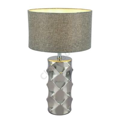 Globo 21717 TRACEY asztali lámpa E27 króm/szürke E14