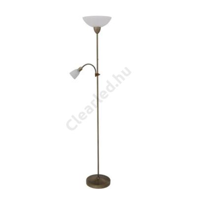 Rábalux 4019 PEARL CLASSIC állólámpa, E27 / E14, bronz