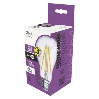 EMOS E27 12W filament LED körte, 1521lm, 4100K