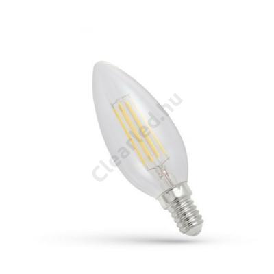 Spectrum LED WOJ13874 filament átlátszó gyertya E14 4W 2700K