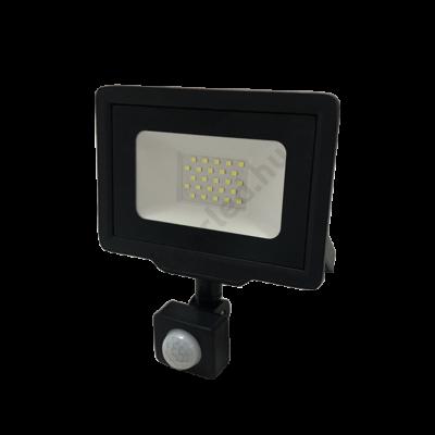 Optonica FL5945 LED reflektor 20W 1600lm 4500K fekete ház IP65 mozgásérzékelős
