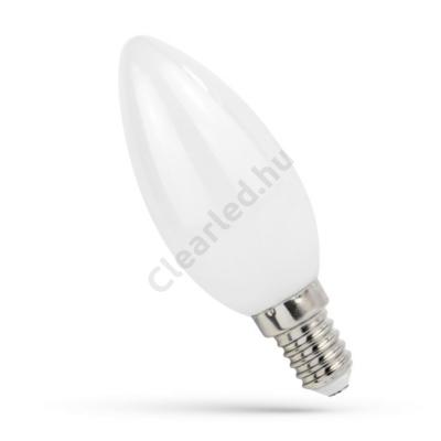 Spectrumled led gyertya E14 6W COG NW opál