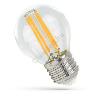 Spectrum LED WOJ14397 filament átlátszó kisgömb E27 6W 4000K