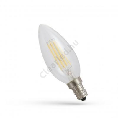 Spectrum LED WOJ14388 filament átlátszó gyertya E14 6W 4000K