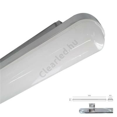 Luxera 31602 ELMINA mennyezeti lámpatest, 120cm, 36W, 2850lm, 4000K, IP65